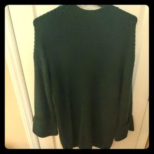 Green maternity sweater